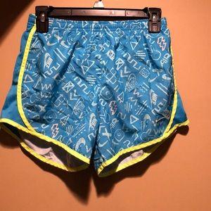Blue patterned Nike Dri-fit shorts